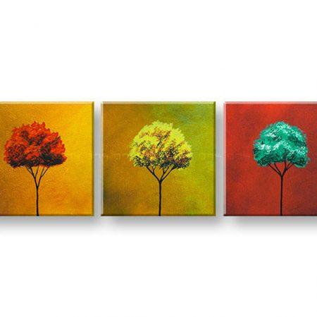 Ručne maľovaný obraz na stenu STROMY 3 dielny YOBAM001E3