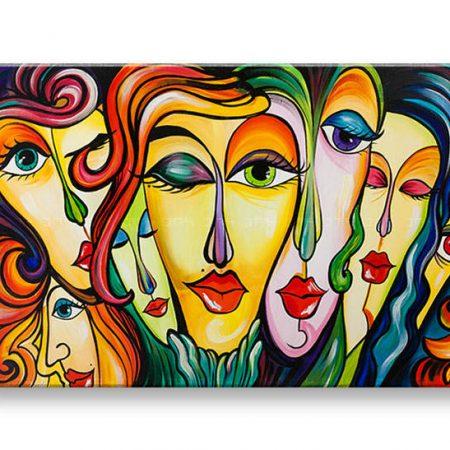Ručne maľovaný obraz na stenu ŽENY 1 dielny YOBAM009E1