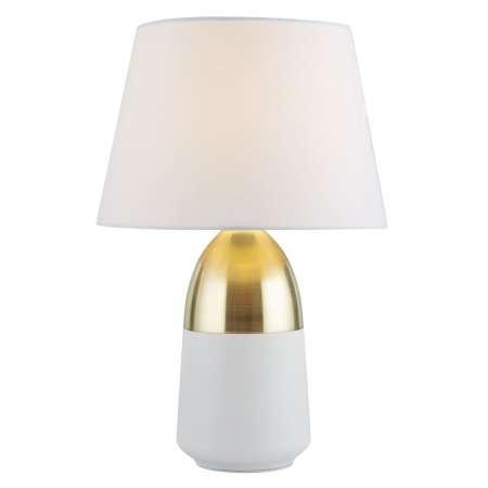 Searchlight Stolná lampa EU700340 v vznešenej bielej/mosadznej