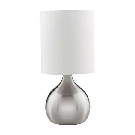 Searchlight Stolná lampa Touch 3923, strieborná, satinovaná