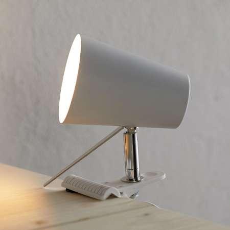 Spot-Light Biela upínacia lampa Clampspots moderný vzhľad