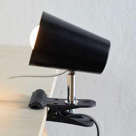Spot-Light Čierna upínacia lampa Clampspots moderný vzhľad