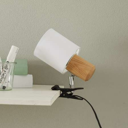 Spot-Light Moderná upínacia lampa Clampspots biele tienidlo