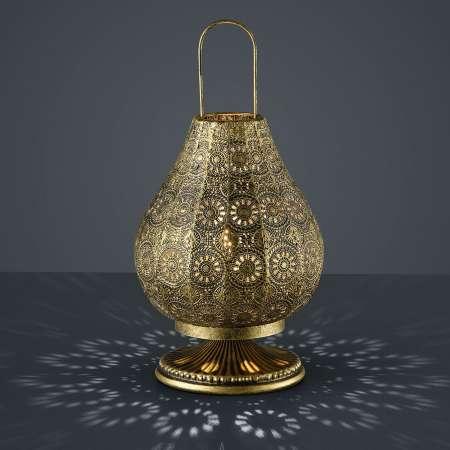 Trio Lighting Jasmin lampa orientálny dizajn starožitná mosadz