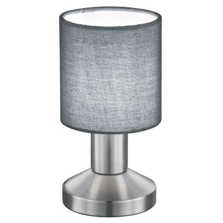 Trio Lighting Sivá stolná lampa Garda