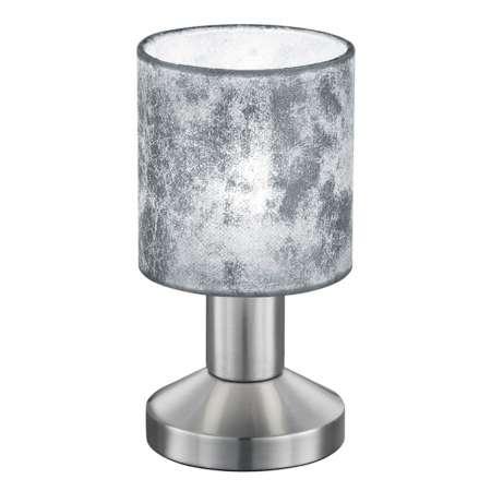 Trio Lighting Stolná lampa Garda – strieborné plastové tienidlo