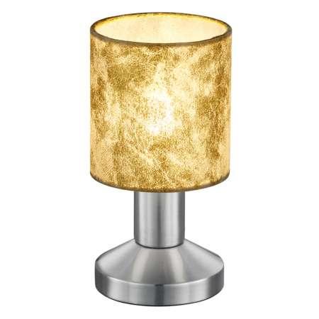 Trio Lighting Stolná lampa Garda s plastovým tienidlom zlatá