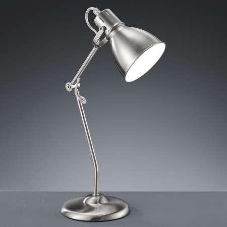 Trio Lighting Stolná lampa Keali nastaviteľná nikel matná