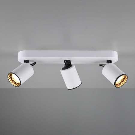 Trio Lighting Stropná lampa Pago, 3 zdroje, biela