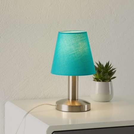 Trio Lighting Tyrkysová stolná lampa Merete, dotyková funkcia