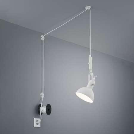 Trio Lighting Závesná lampa Carlotta so zástrčkou, biela