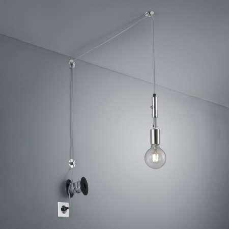 Trio Lighting Závesná lampa Stella so zástrčkou, niklová