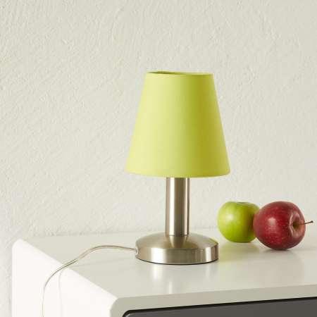 Trio Lighting Zelená stolná lampa Merete s dotykovým vypínačom