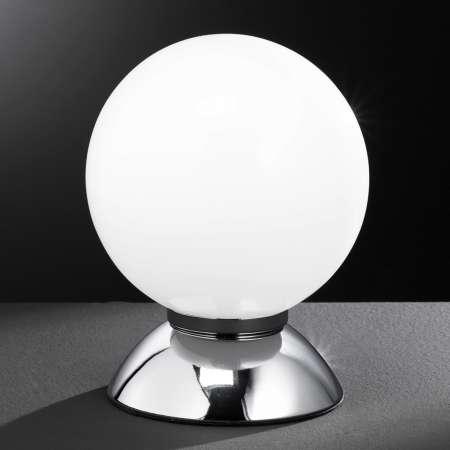 Wofi Guľatá stolná lampa PLUTO, chróm
