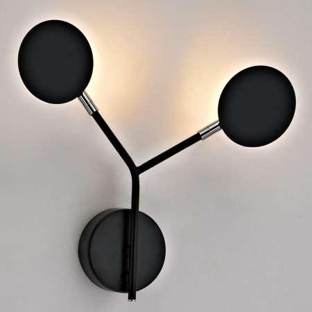 Wofi Nástenné LED svietidlo Belize, 2-plameňové, čierne