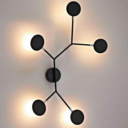 Wofi Nástenné LED svietidlo Belize, 5-plameňové čierne