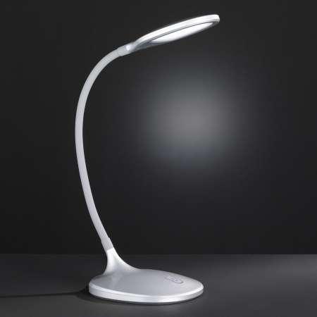 Wofi Stmievateľná LED na písací stôl Yava v striebornej