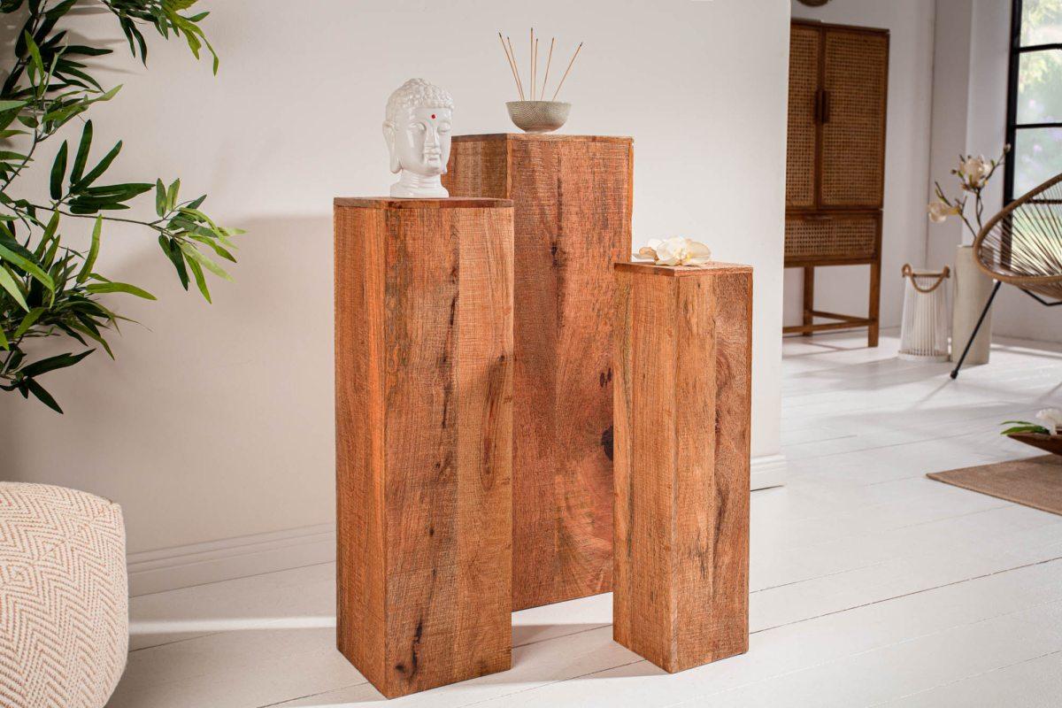 LuxD Dekoratívny stĺp Elegant mango - set 3 ks
