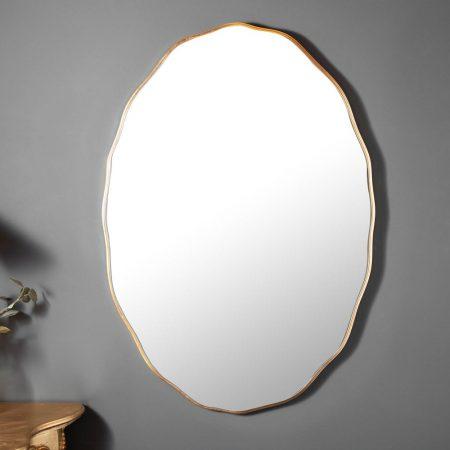 LuxD Dizajnové nástenné zrkadlo Cason  zlaté  x  25156