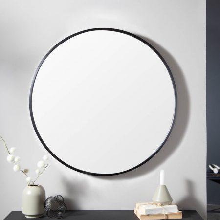 LuxD Dizajnové nástenné zrkadlo Daiwa  čierne  x  25153