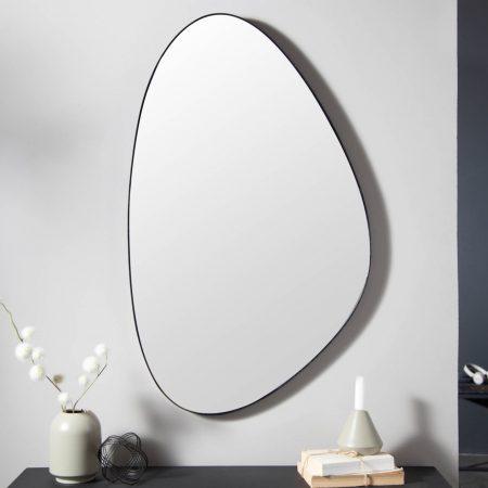 LuxD Dizajnové nástenné zrkadlo Daiwa  čierne  x  25154