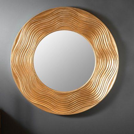 LuxD Dizajnové nástenné zrkadlo Dalton  zlaté  x  25155