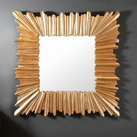 LuxD Dizajnové nástenné zrkadlo Kathleen  zlaté  x  25151