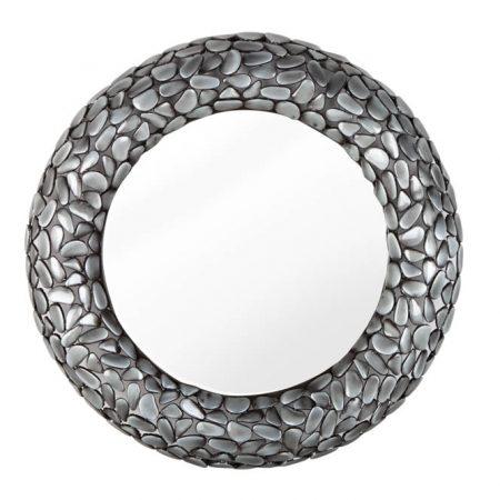 LuxD Dizajnové nástenné zrkadlo Mauricio II  sivé  x  25123