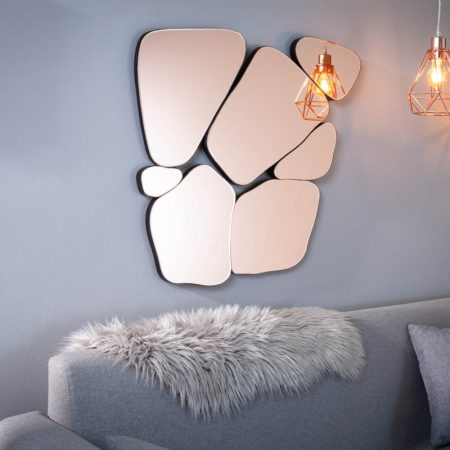 LuxD Dizajnové nástenné zrkadlo Rohan  ružové  x  23449