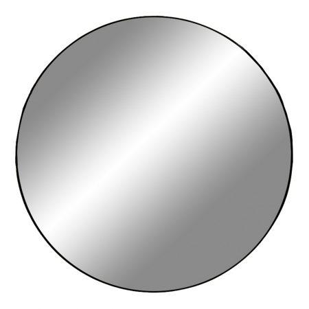 Norddan Dizajnové okrúhle zrkadlo Cara s čiernym rámom 5 cm x 100 cm 24159