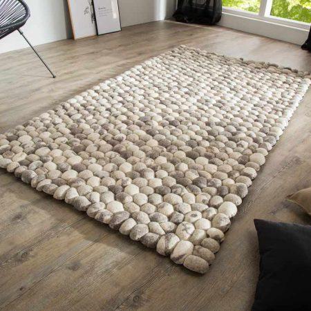 LuxD Dizajnový koberec Jayda 200x120 sivá plsť