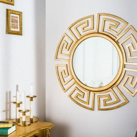 LuxD Nástenné zrkadlo Leonel, zlaté,  x  21064