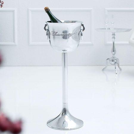 LuxD Dizajnový chladič šampanského Champagne 75 cm / strieborná