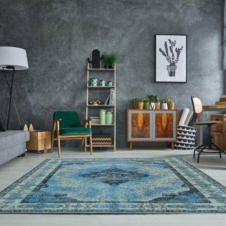 LuxD Dizajnový koberec Lessie II 240x160 cm / modrá
