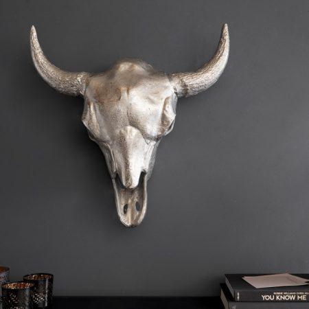 LuxD Nástenná dekorácia Randal 56 cm strieborná