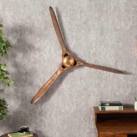 LuxD Nástenná dekorácia Wade 90 cm medená