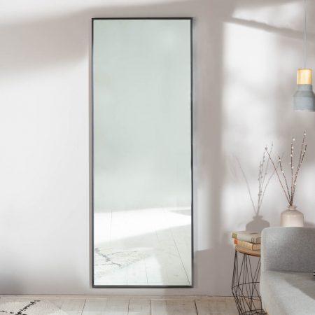 LuxD Nástenné zrkadlo Acotas  čierne 1cm x  24959