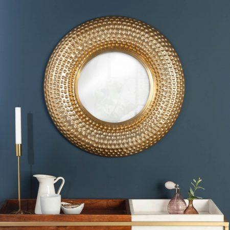 LuxD Nástenné zrkadlo Alijah  zlaté  x  24993