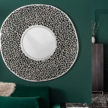 LuxD Nástenné zrkadlo Lance L  strieborné  x  23350