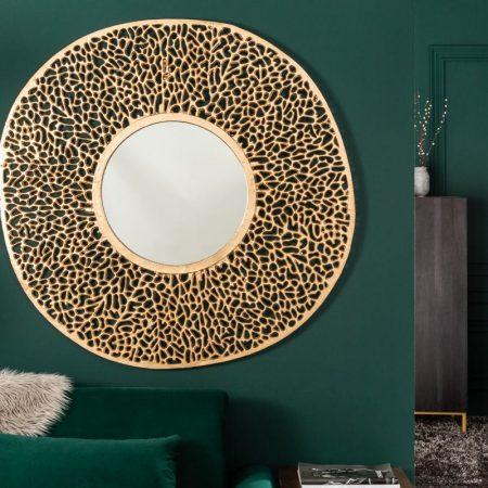 LuxD Nástenné zrkadlo Lance L  zlaté  x  23351