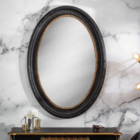 LuxD Nástenné zrkadlo Kathleen  čierno - zlaté  x  24686